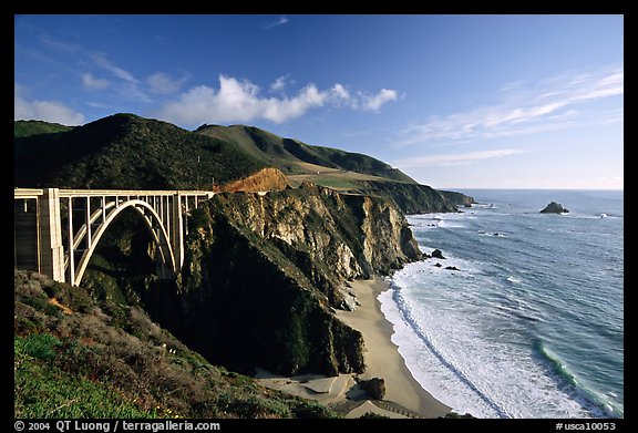 Bixby creek bridge, late afternoon. Big Sur, California, USA (color)
