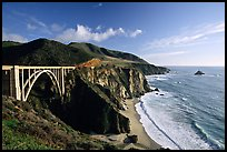 Bixby creek bridge, late afternoon. Big Sur, California, USA ( color)