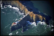 Aerial view of Bonita Lighthouse. California, USA ( color)