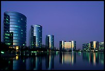 Oracle Headquarters at dusk. Redwood City,  California, USA (color)