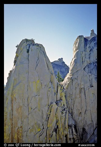 Granite spires, the Needles,  Giant Sequoia National Monument. California, USA (color)