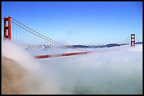 Fog rolls over the Golden Gate. San Francisco, California, USA