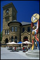 San Jose Museum of Art, old wing and cafe. San Jose, California, USA (color)