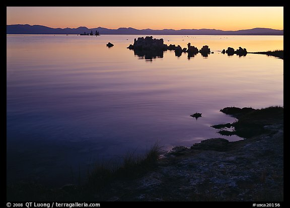 Tufa towers at sunrise. Mono Lake, California, USA (color)