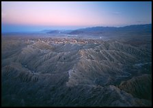 Badlands at dusk, Font Point. California, USA ( color)