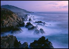 Rocky coastline, Garapata. California, USA ( color)