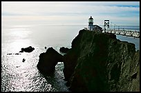 Point Bonita Lighthouse, afternoon. California, USA ( color)