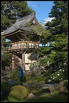 Entrance of Japanese Garden, Golden Gate Park. San Francisco, California, USA (color)
