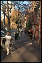 University avenue, the main street. Palo Alto,  California, USA (color)