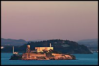 Alcatraz Island at sunset. San Francisco, California, USA (color)