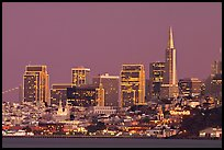 Skyline at dusk. San Francisco, California, USA (color)