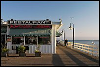 Restaurant on the Pier. Santa Cruz, California, USA (color)