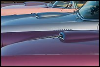 Beautifully painted thunderbird cars. Santa Cruz, California, USA ( color)