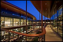 Newly constructed James Clark Center, dusk. Stanford University, California, USA ( color)