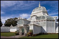 Facade of the renovated Conservatory of Flowers. San Francisco, California, USA ( color)