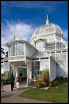 Entrance of the Conservatory of Flowers. San Francisco, California, USA ( color)