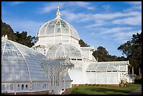 Side view of the Conservatory of Flowers, whitewashed to avoid heat absorption. San Francisco, California, USA ( color)