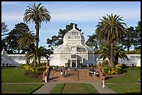 Conservatory of Flowers and lawn, afternoon. San Francisco, California, USA ( color)