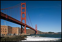Fort Point and Golden Gate Bridge. San Francisco, California, USA ( color)