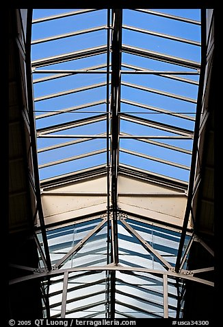 Glass roof of the Ferry building. San Francisco, California, USA (color)