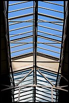 Glass roof of the Ferry building. San Francisco, California, USA ( color)