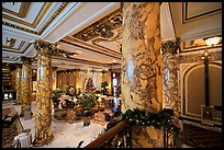 Lobby of the Fairmont Hotel. San Francisco, California, USA (color)