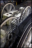 Cable winding machine in the cable-car barn. San Francisco, California, USA ( color)