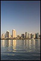 Skyline from across the harbor,  Coronado. San Diego, California, USA ( color)
