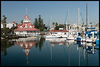 Harbor and boathouse restaurant, Coronado. San Diego, California, USA