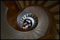 Children standing at the bottom of stairwell, Point Loma Lighthous. San Diego, California, USA ( color)