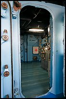 Bridge seen from a door, USS Midway aircraft carrier. San Diego, California, USA ( color)