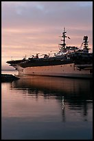 USS Midway, the longest serving aircraft carrier. San Diego, California, USA ( color)