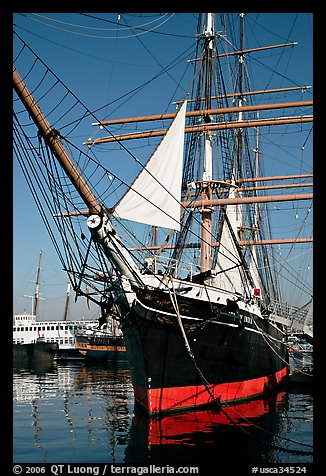 Iron-hulled 1863 ship Star of India, Maritime Museum. San Diego, California, USA