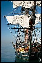 HMS Surprise, used in the movie Master and Commander, Maritime Museum. San Diego, California, USA (color)