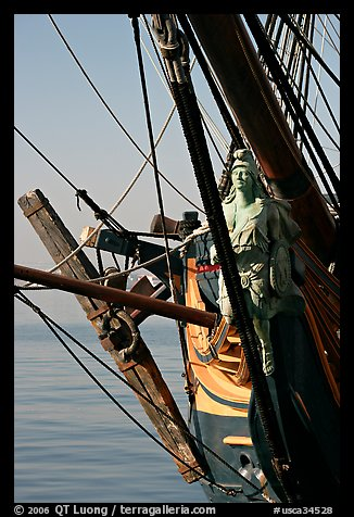 Prow of the HMS Surprise, Maritime Museum. San Diego, California, USA (color)