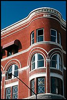 Keating building, Gaslamp quarter. San Diego, California, USA (color)