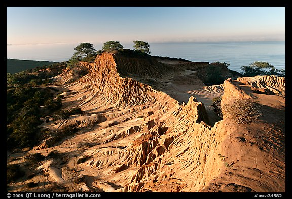 Broken Hill and Ocean,  Torrey Pines State Preserve. La Jolla, San Diego, California, USA (color)