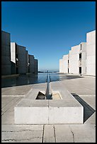 Salk Institute for biological studies designed by Louis Kahn, morning. La Jolla, San Diego, California, USA ( color)