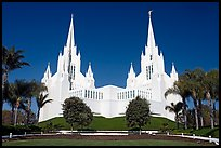 Mormon temple. San Diego, California, USA (color)