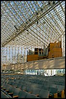 16000-pipe organ inside the Crystal Cathedral. Garden Grove, Orange County, California, USA (color)
