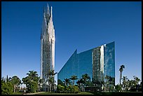 Crystal Cathedral, designed by architect Philip Johnson, afternoon. Garden Grove, Orange County, California, USA