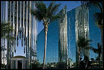 Bell Tower, Crystal Cathedral and reflections. Garden Grove, Orange County, California, USA (color)