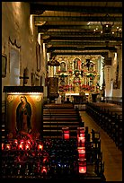 Inside of original mission chapel, constructed in 1782. San Juan Capistrano, Orange County, California, USA ( color)
