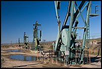 Oil extracting machinery, Chevron field. California, USA ( color)