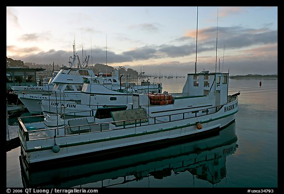 Harbor, sunrise. Morro Bay, USA (color)