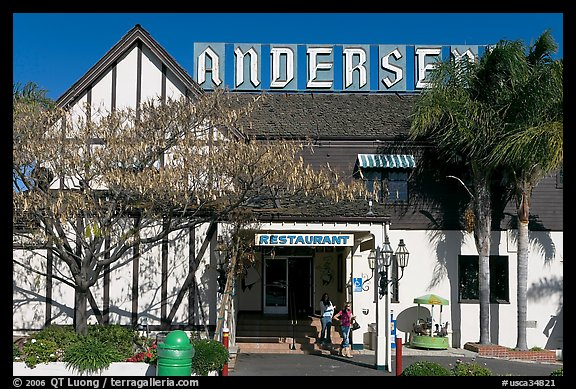 The original Andersen pea soup restaurant. California, USA (color)
