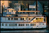 Last light on the Spirit of Sacramento riverboat. Sacramento, California, USA (color)