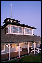 South Bay Yacht club at dusk, Alviso. San Jose, California, USA ( color)