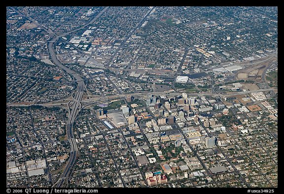 Aerial view of downtown. San Jose, California, USA (color)