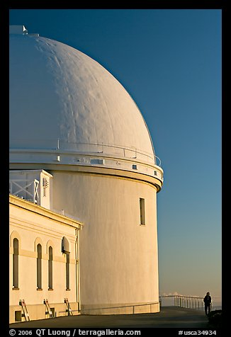 Dome housing the refractive telescope, Lick obervatory. San Jose, California, USA (color)
